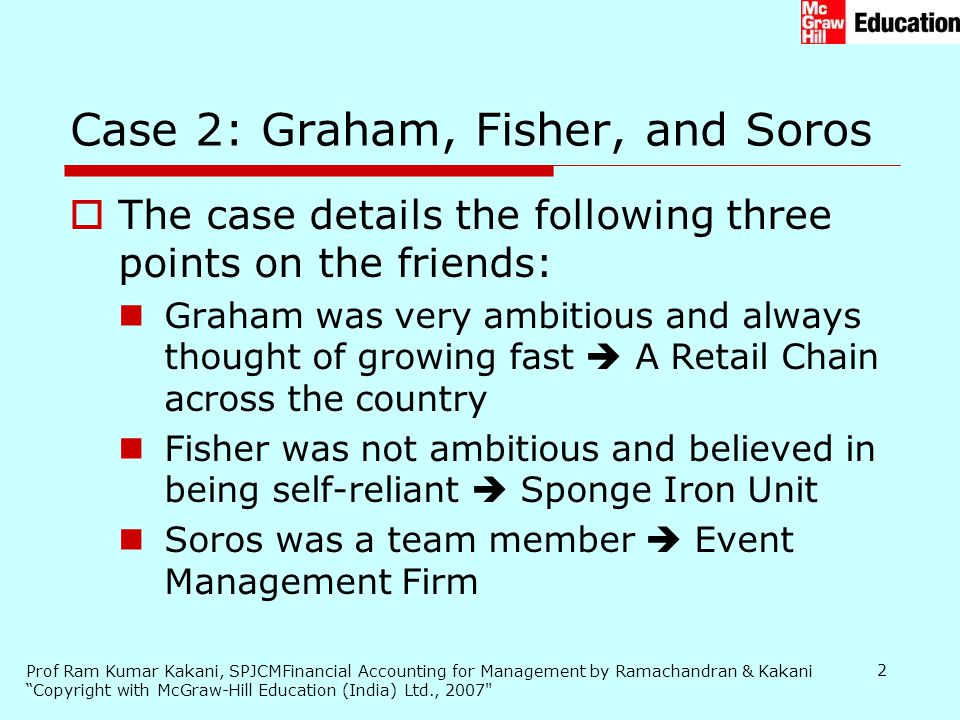 Case 2: Graham, Fisher, and Soros