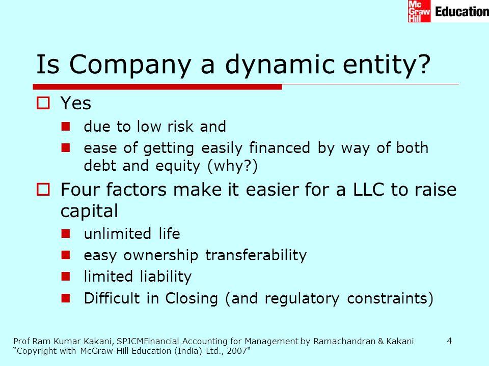 Is Company a dynamic entity