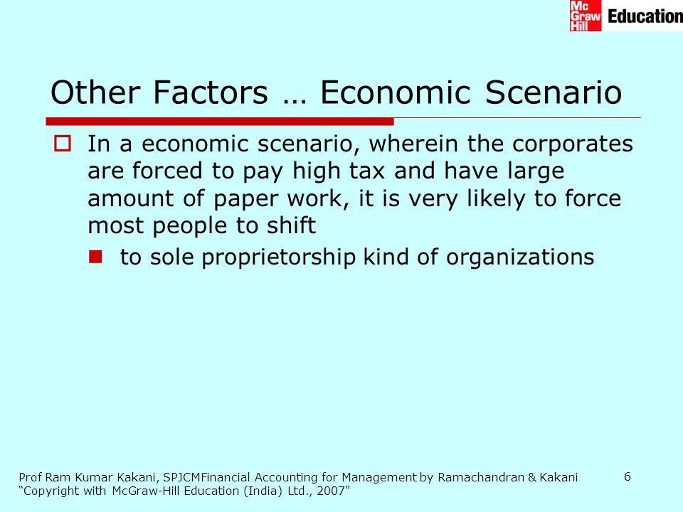Other Factors … Economic Scenario