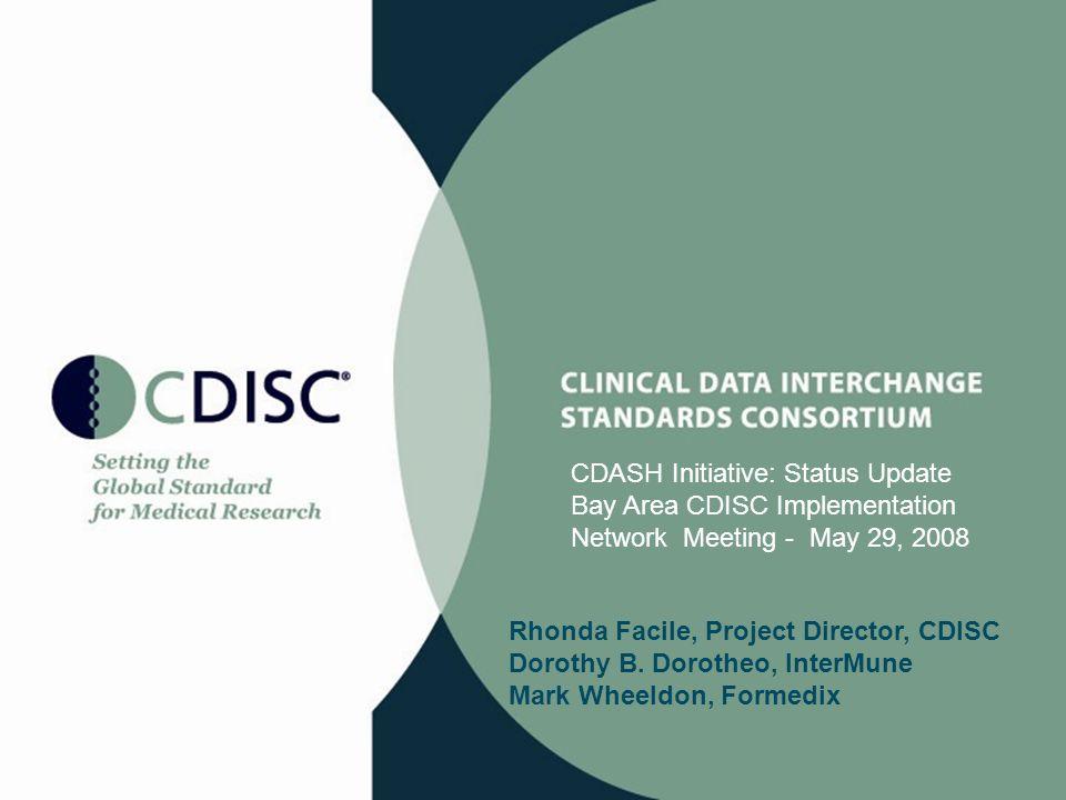 CDASH Initiative: Status Update