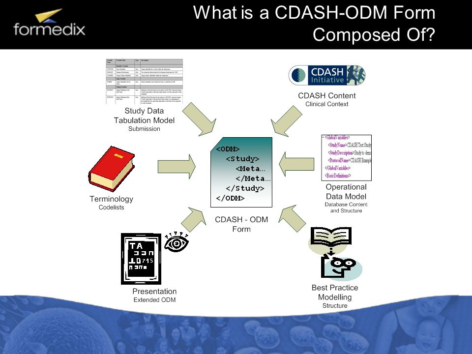 What is a CDASH-ODM Form Composed Of