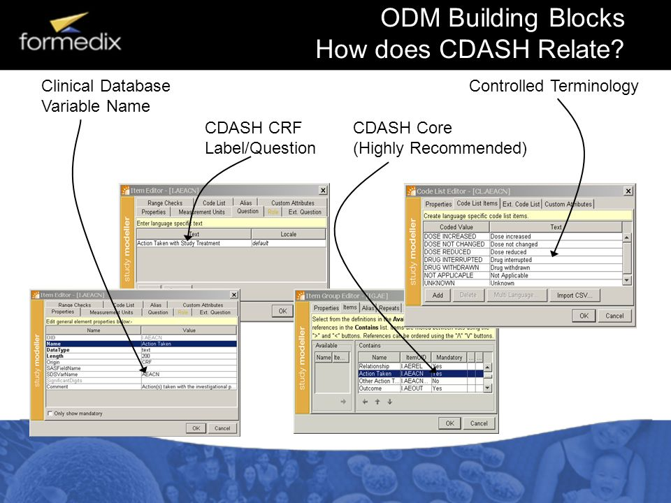ODM Building Blocks How does CDASH Relate