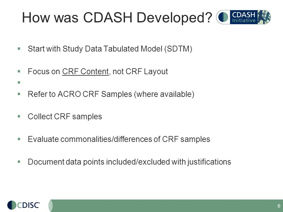 How was CDASH Developed