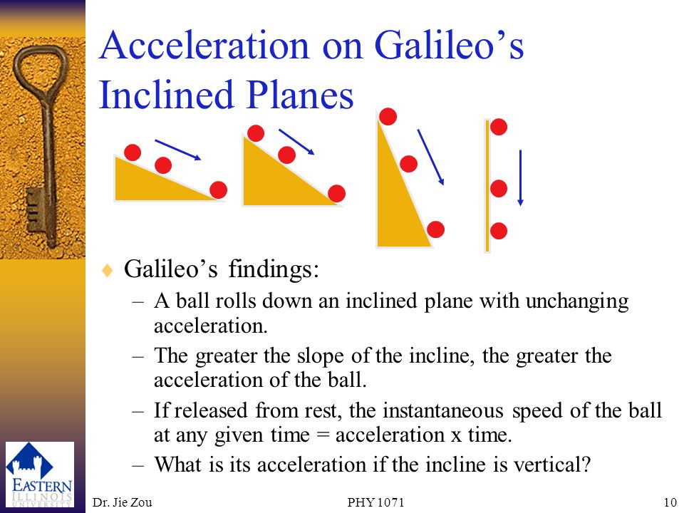Acceleration on Galileo's Inclined Planes