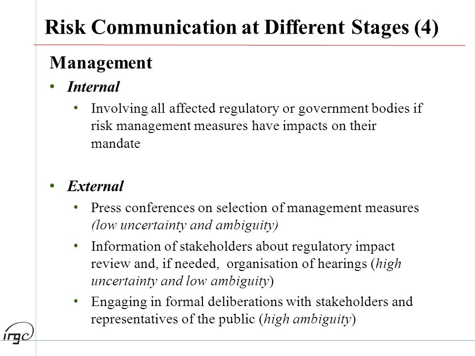 Risk Communication at Different Stages (4)