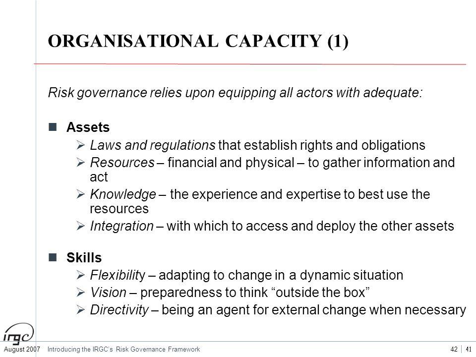 ORGANISATIONAL CAPACITY (1)