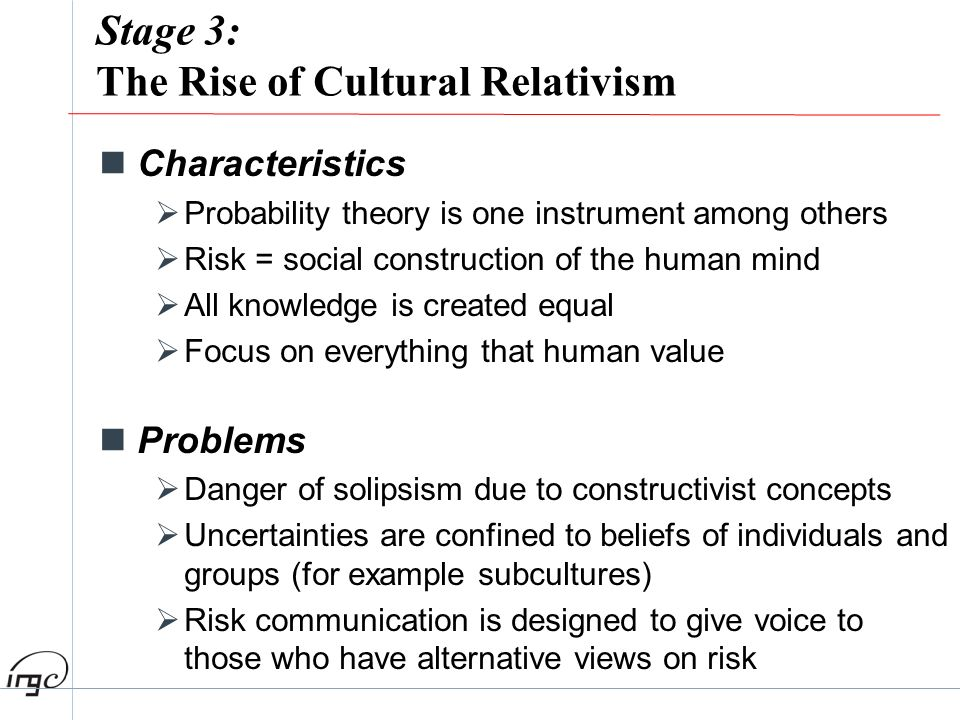 Stage 3: The Rise of Cultural Relativism