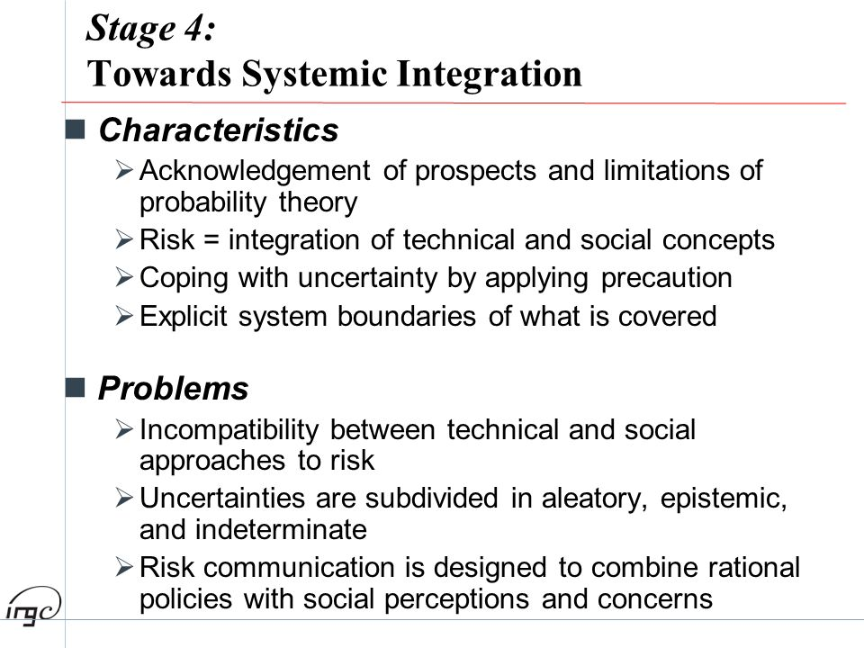 Stage 4: Towards Systemic Integration