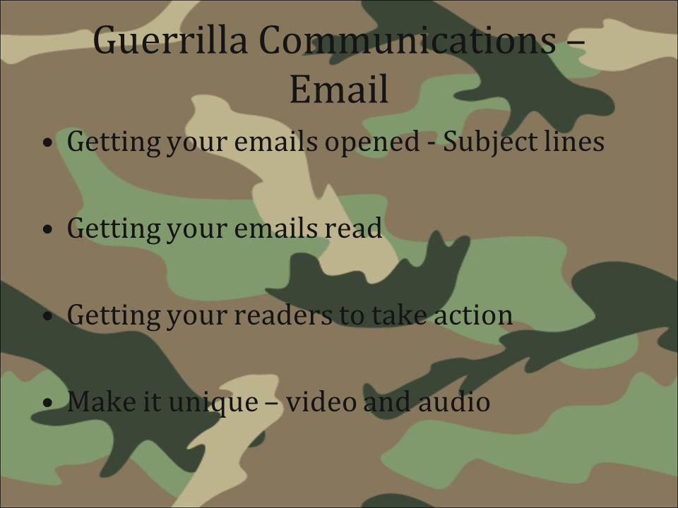 Guerrilla Communications – Email
