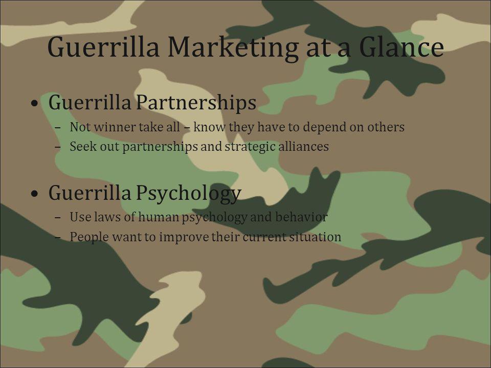 Guerrilla Marketing at a Glance
