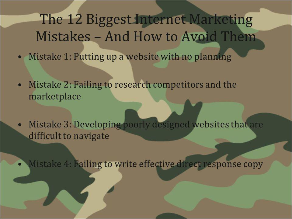 The 12 Biggest Internet Marketing Mistakes – And How to Avoid Them
