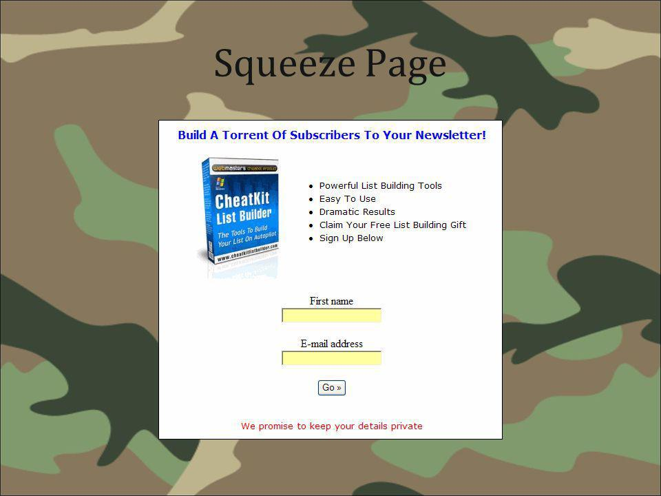 Squeeze Page