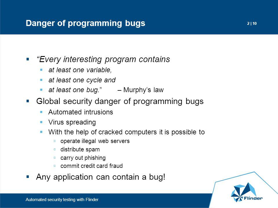 Danger of programming bugs