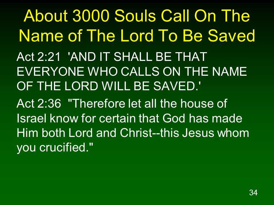 About 3000 Souls Call On The Name of The Lord To Be Saved