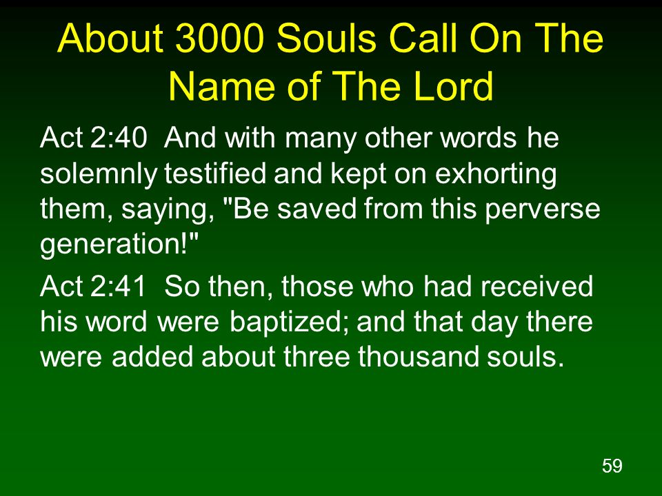 About 3000 Souls Call On The Name of The Lord
