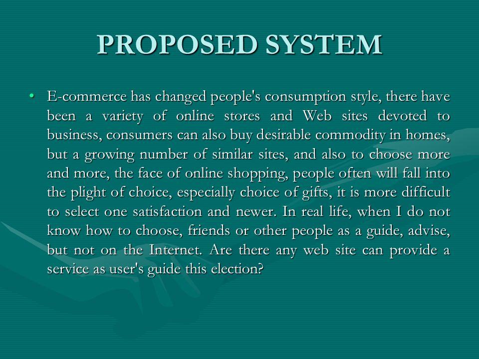 PROPOSED SYSTEM