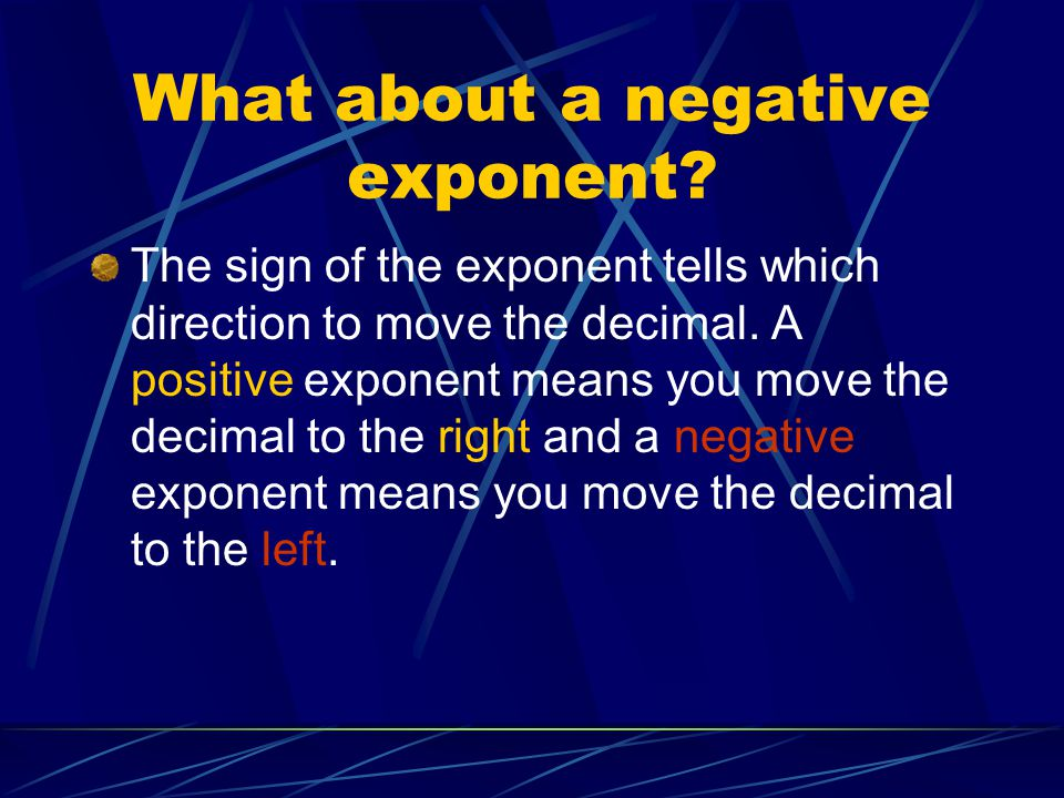 What about a negative exponent
