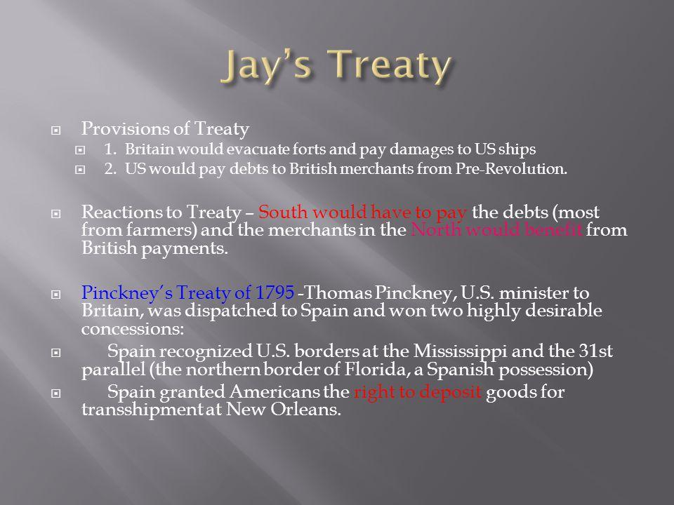 Jay's Treaty Provisions of Treaty