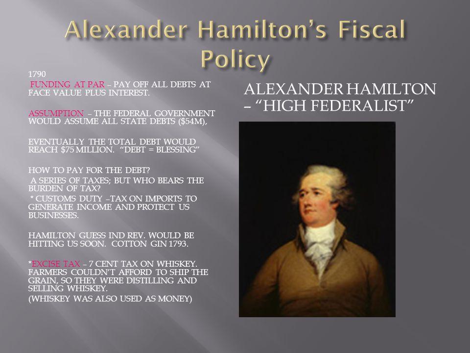 Alexander Hamilton's Fiscal Policy