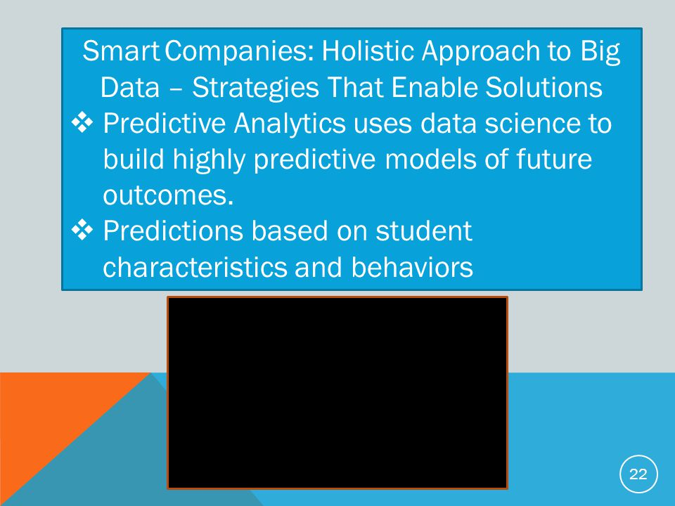 Smart Companies: Holistic Approach to Big Data – Strategies That Enable Solutions