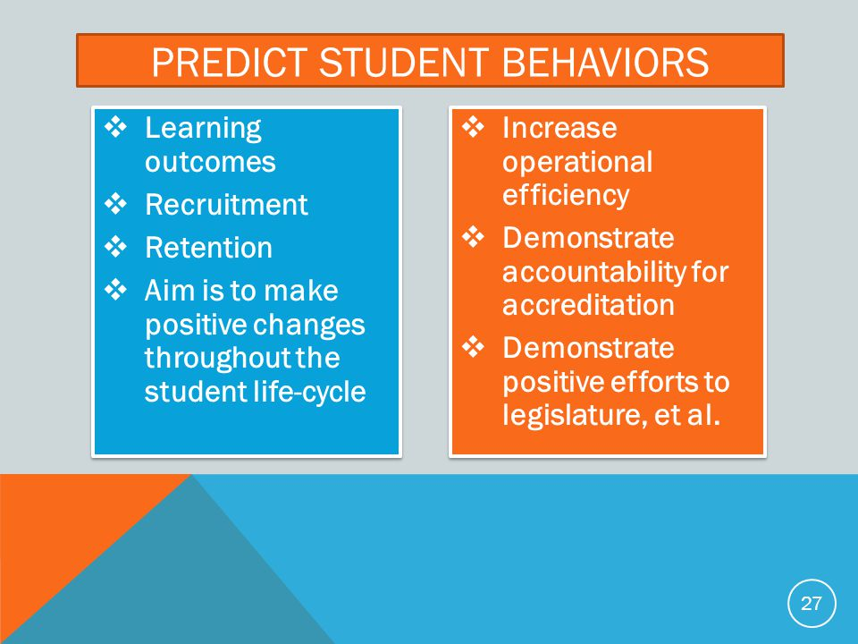 Predict student behaviors