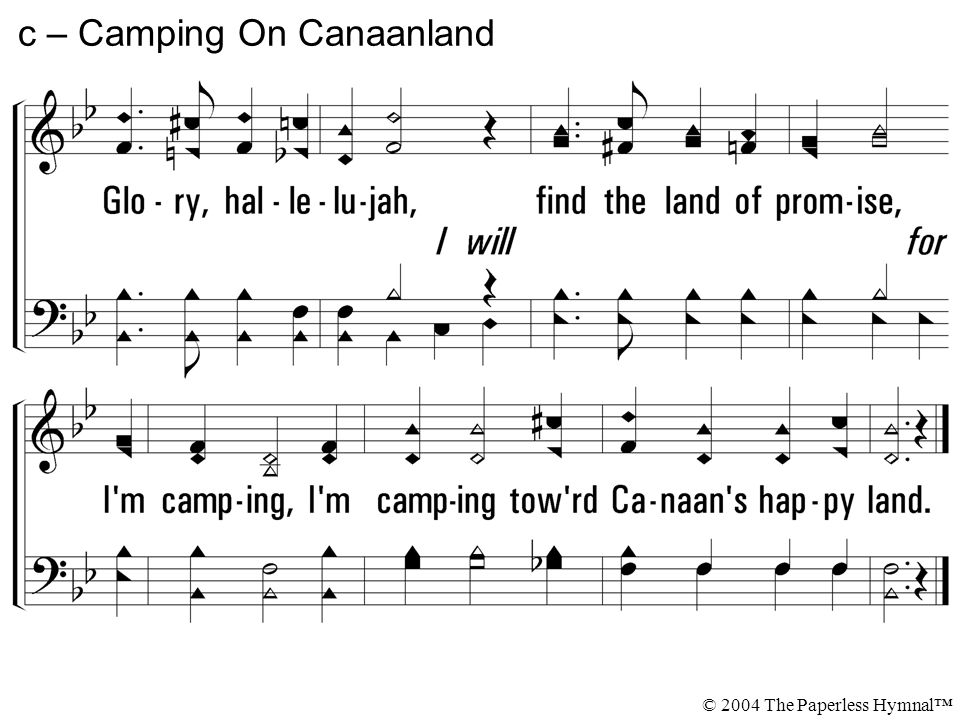 c – Camping On Canaanland