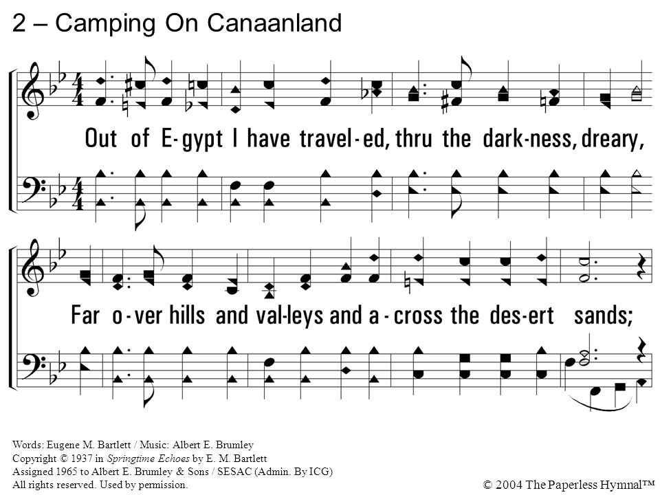 2 – Camping On Canaanland