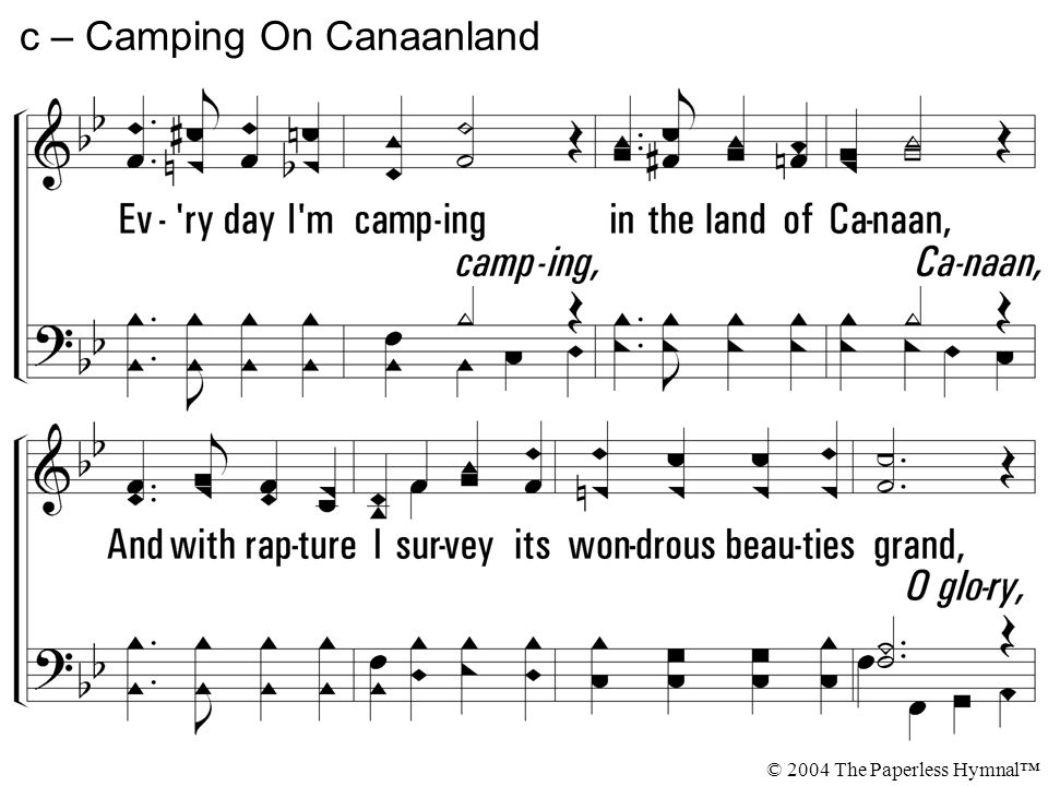 Camping In Canaan's Land - YouTube