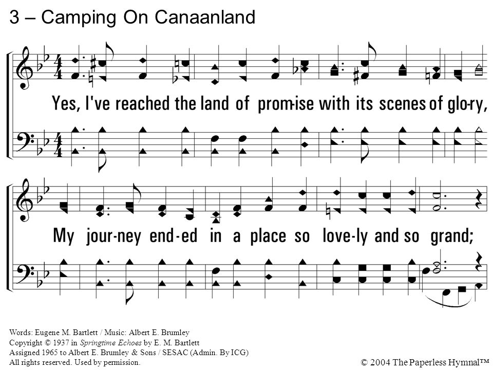 3 – Camping On Canaanland
