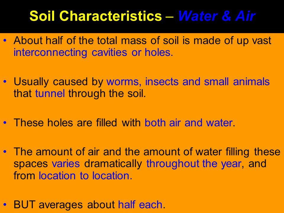 Soil Characteristics – Water & Air