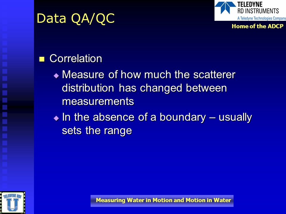 Data QA/QC Correlation