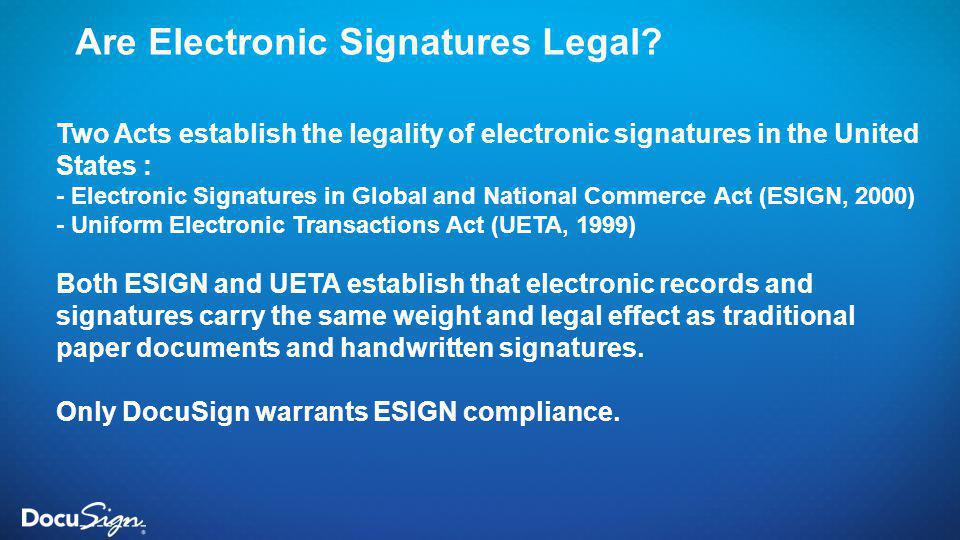 Are Electronic Signatures Legal