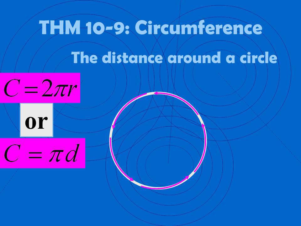 The distance around a circle