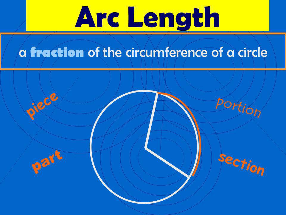 a fraction of the circumference of a circle