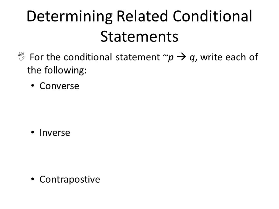 Determining Related Conditional Statements