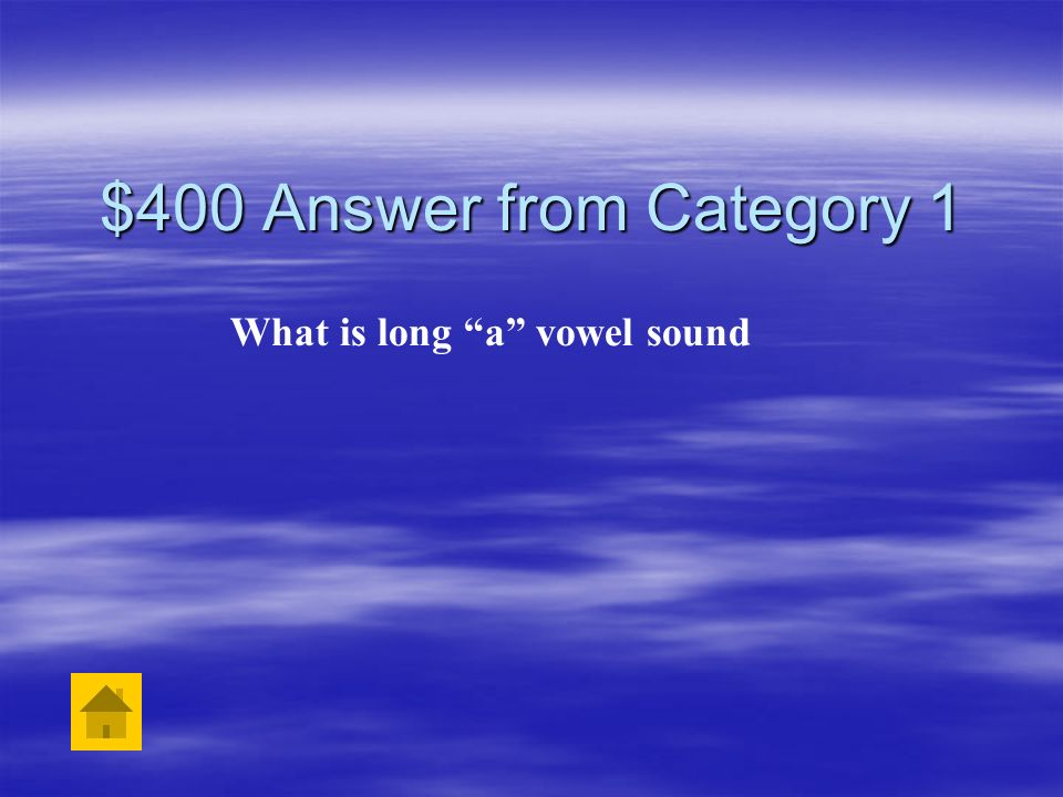 What is long a vowel sound