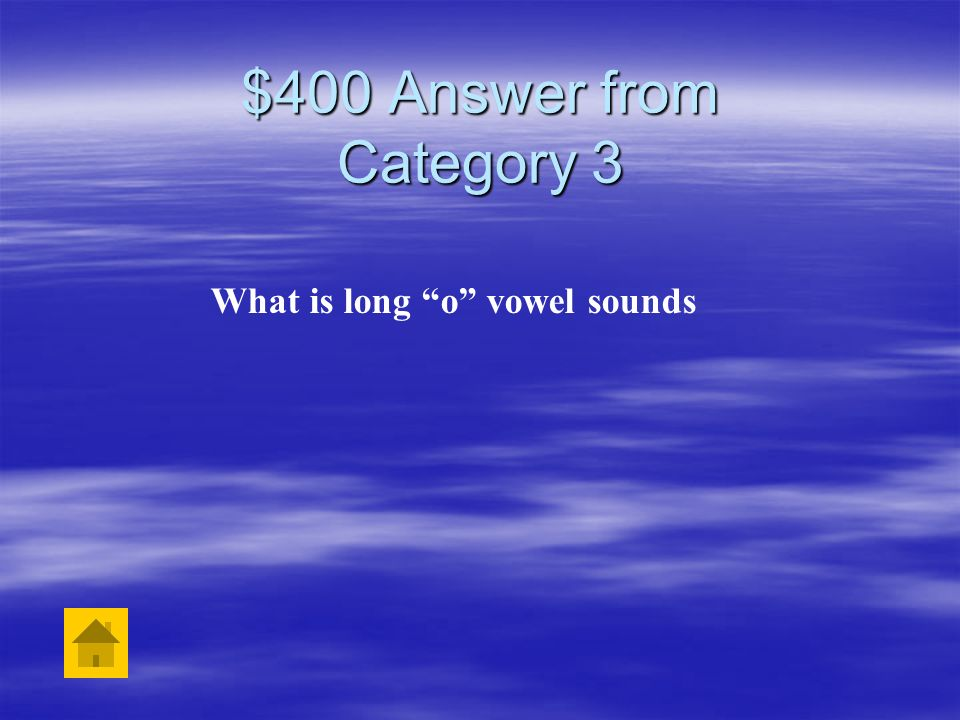 What is long o vowel sounds