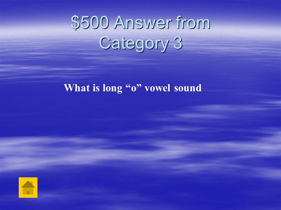 What is long o vowel sound