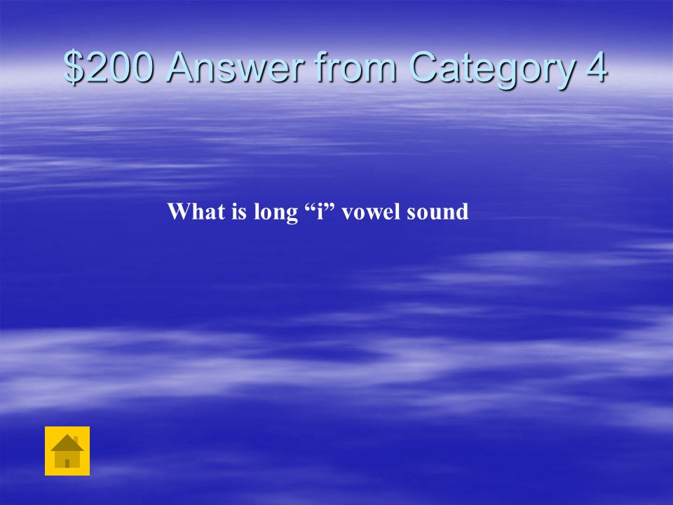 What is long i vowel sound
