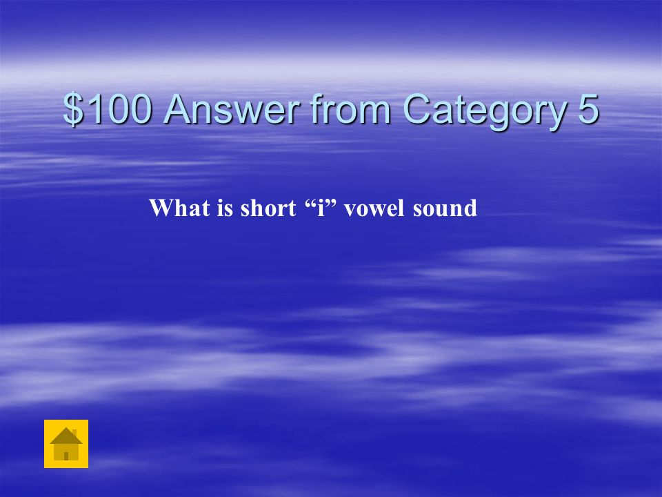 What is short i vowel sound