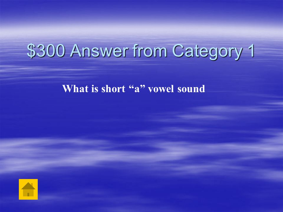What is short a vowel sound