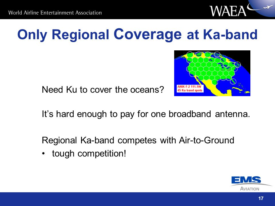 Only Regional Coverage at Ka-band