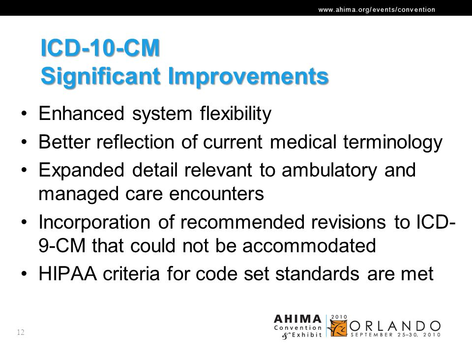 ICD-10-CM Significant Improvements