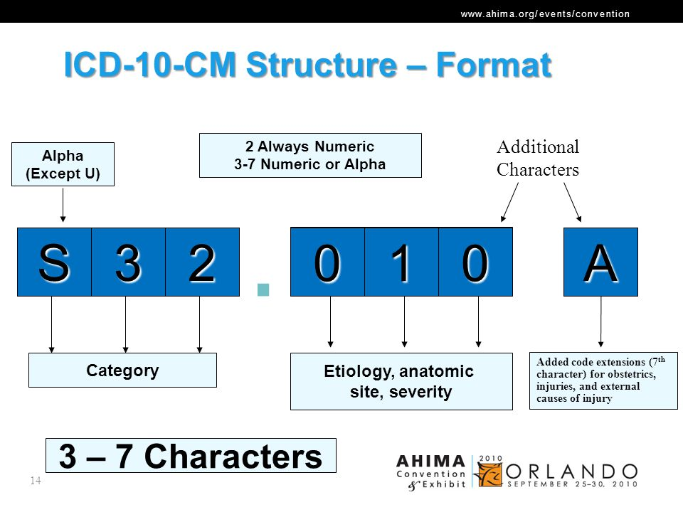 ICD-10-CM Structure – Format