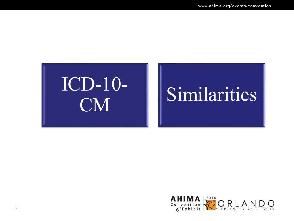 ICD-10-CM Similarities