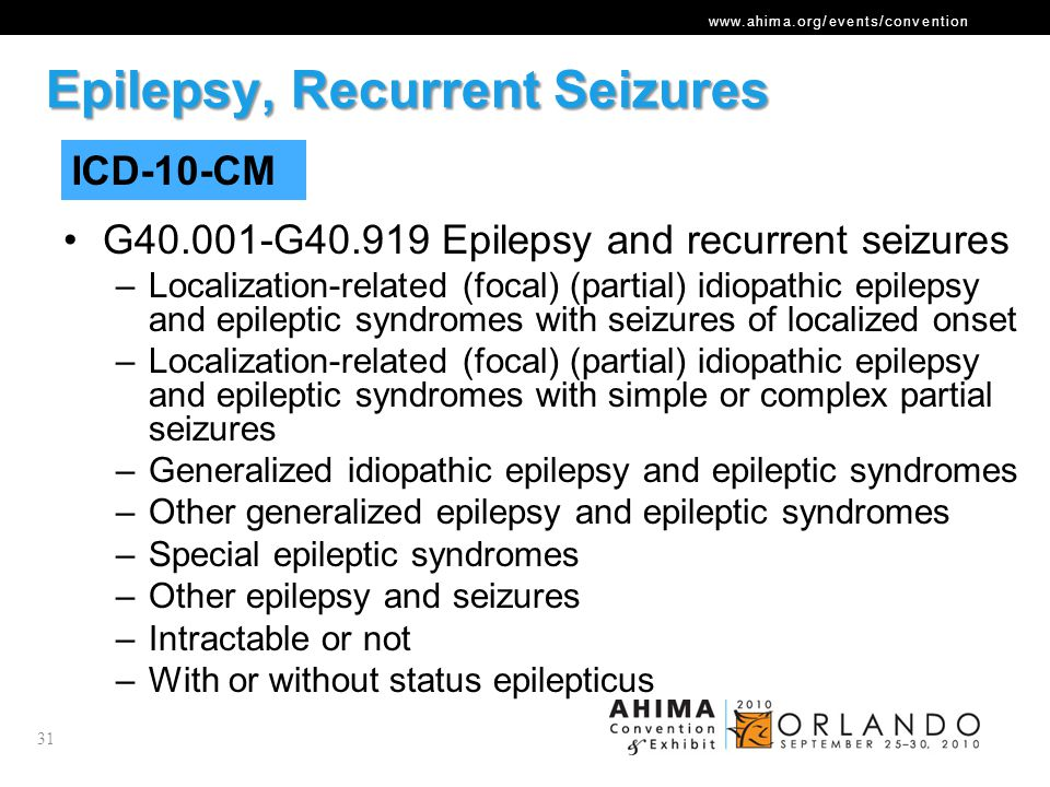Epilepsy, Recurrent Seizures