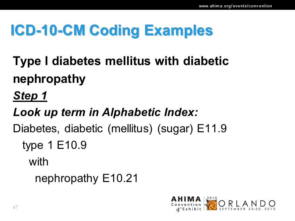 ICD-10-CM Coding Examples