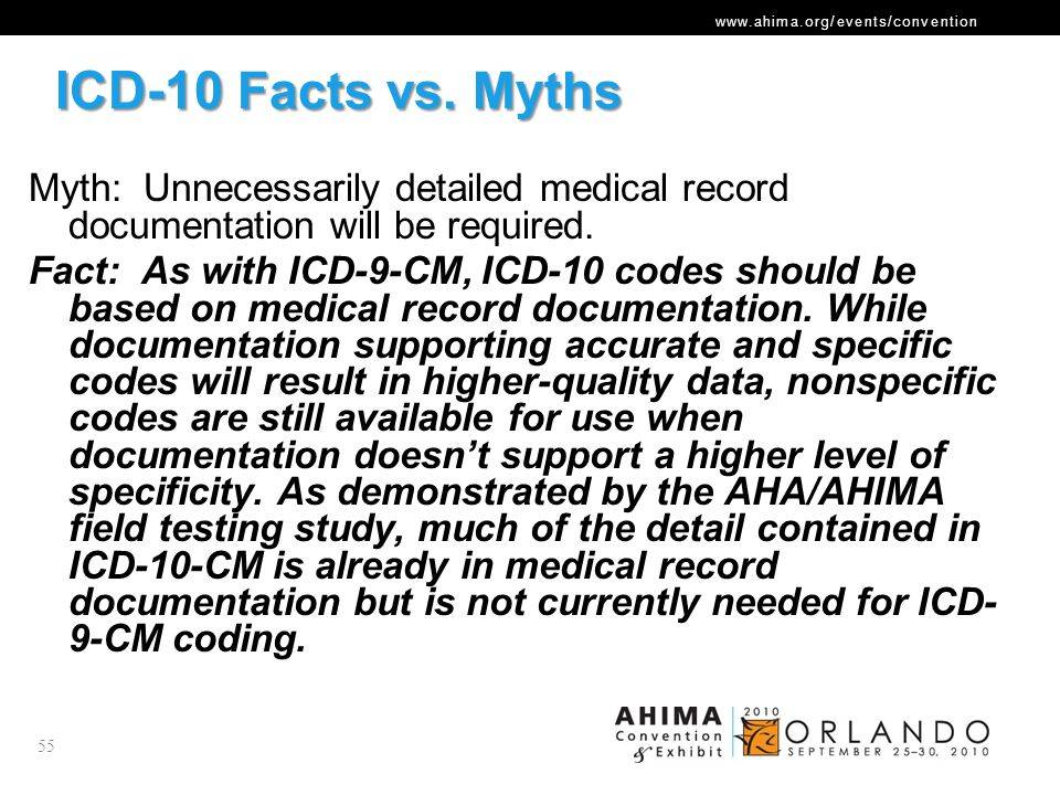ICD-10 Facts vs. Myths