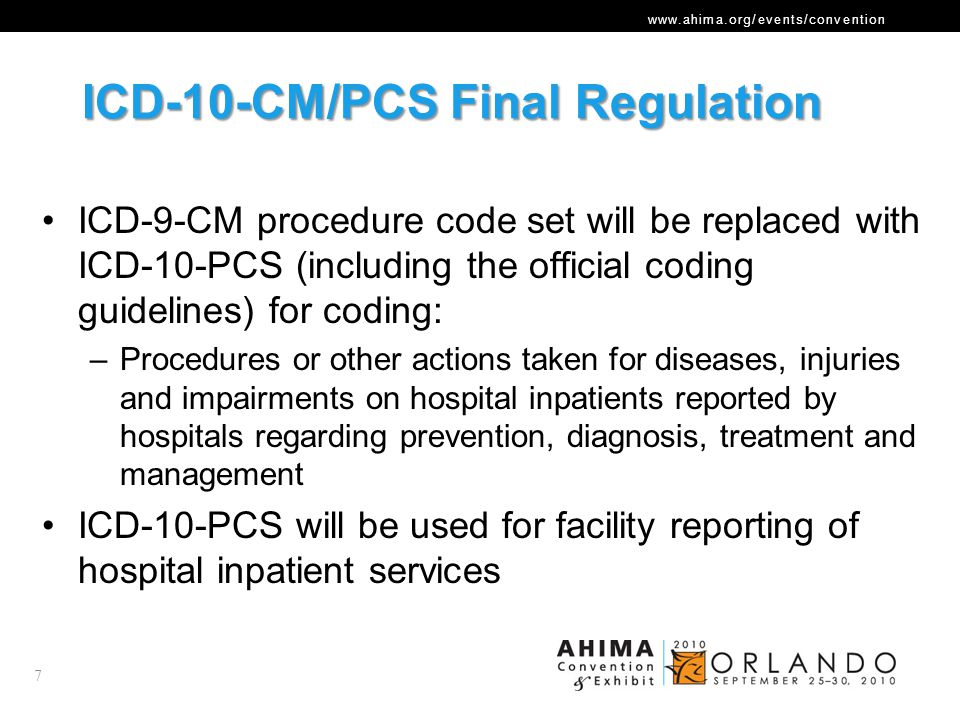 ICD-10-CM/PCS Final Regulation