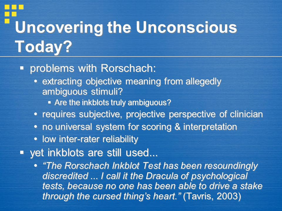 Uncovering the Unconscious Today